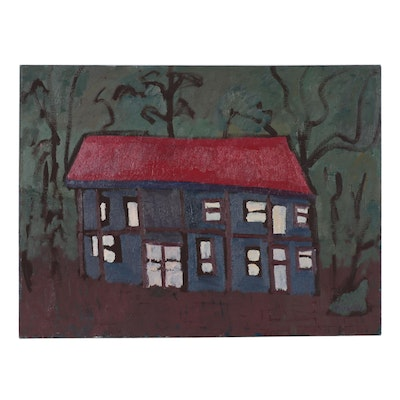Jerald Mironov Oil Painting of a House