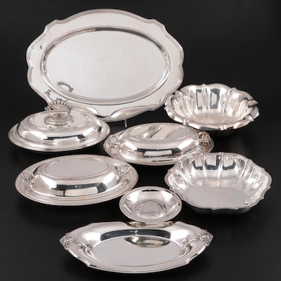 International Silver, Gorham and Other Silver Plate Serveware and Oval Platter