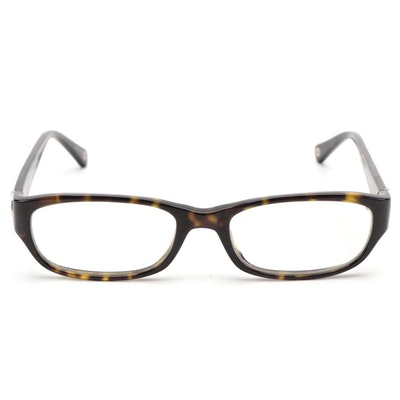 Coach Dark Tortoise Acetate Eyeglasses with Case