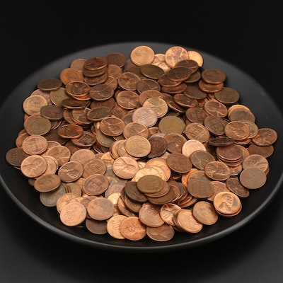 426 Lightly Circulated and Uncirculated Lincoln Wheat Cents, 1930s–1950s
