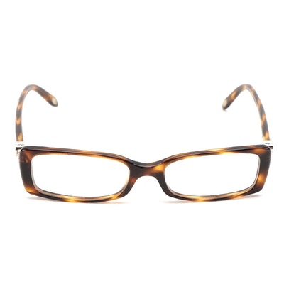 Tiffany & Co. TF2035 Havana Tortoise Acetate Eyeglasses with Case