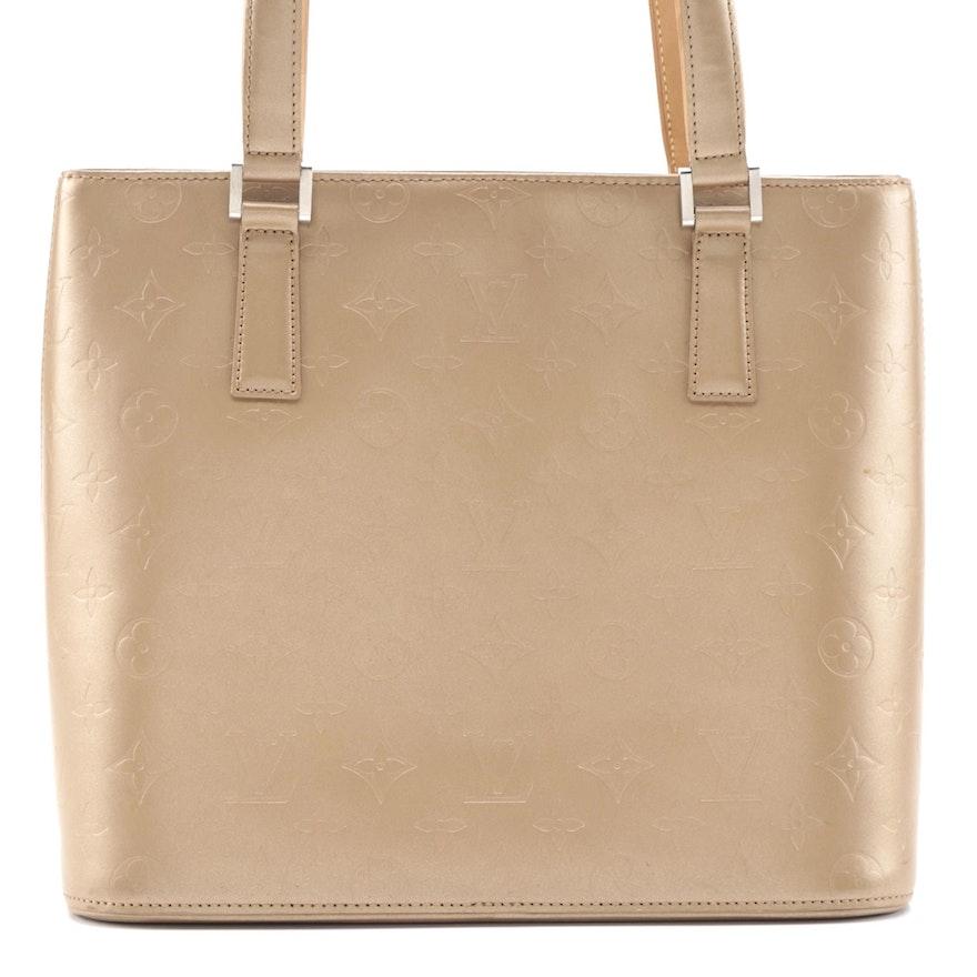 Louis Vuitton Stockton Tote in Ambre Monogram Mat Leather