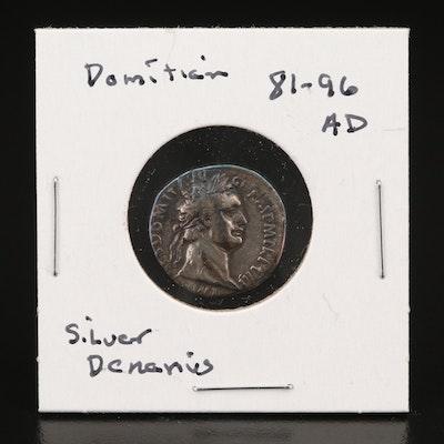 Ancient Roman Imperial Silver Denarius of Domitian, ca. 88 AD