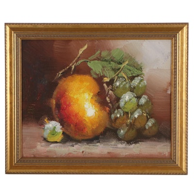 Still Life Oil Painting of Fruit, 21st Century