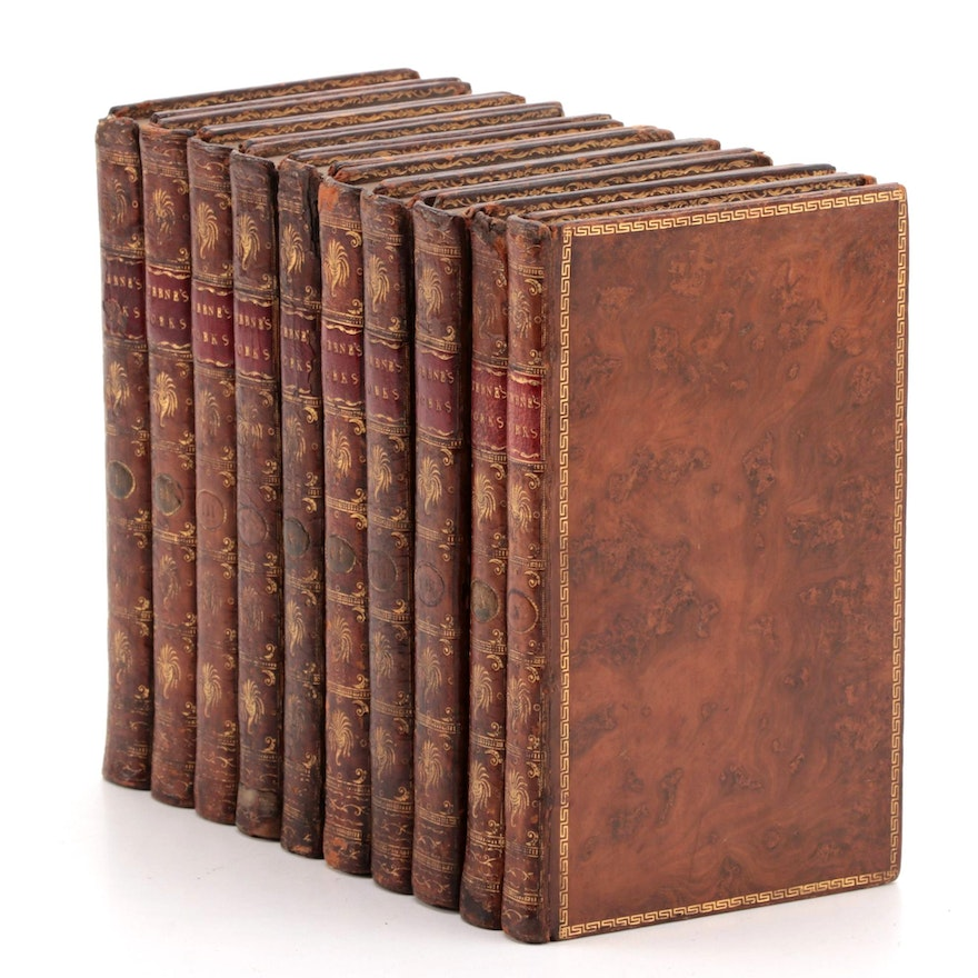 """""""The Works of Laurence Sterne"""" Complete Ten-Volume Set, 1788"""