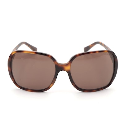 Chanel 5284 Square Frame Sunglasses in Tortoise Acetate with Case