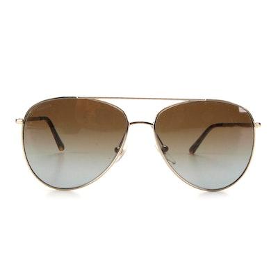 Burberry B3072 Polarized Aviator Sunglasses with Case