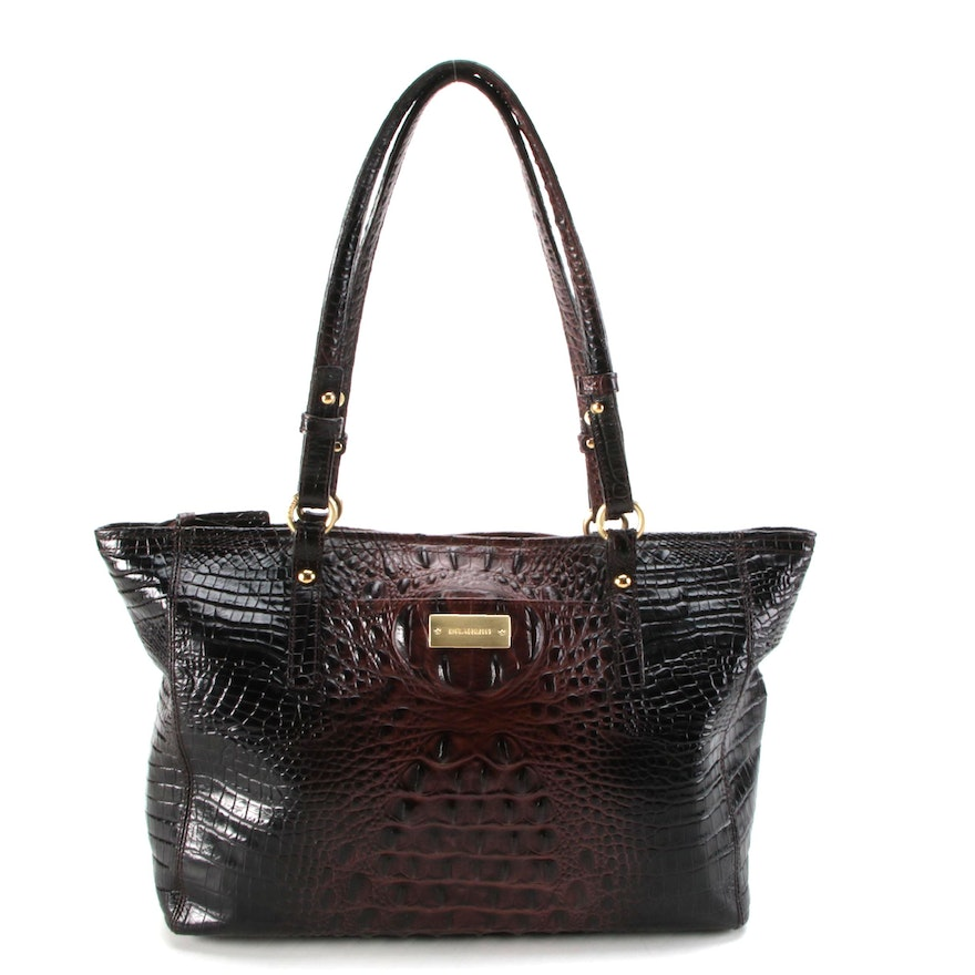 Brahmin Medium Arno Tote in Melbourne Croc-Embossed Leather