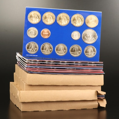 Eight Different U.S. Mint Uncirculated Sets