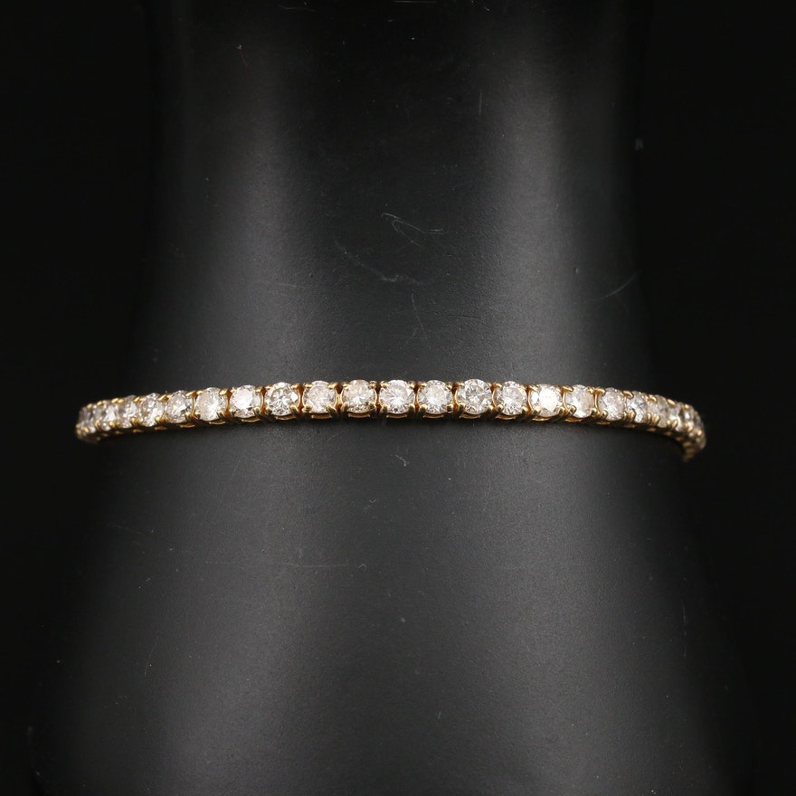 14K 5.50 CTW Diamond Line Bracelet