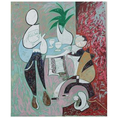"""Eduardo Oliva Oil Painting """"Calor Tarde"""""""