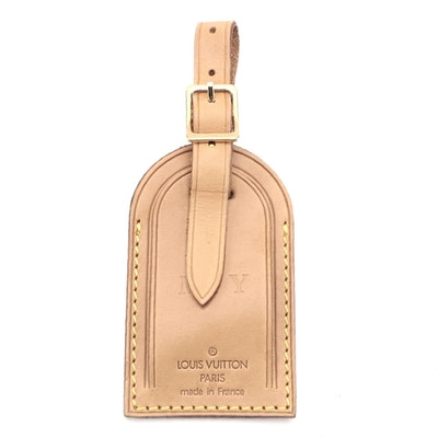 Louis Vuitton Luggage Tag in Vachetta Leather