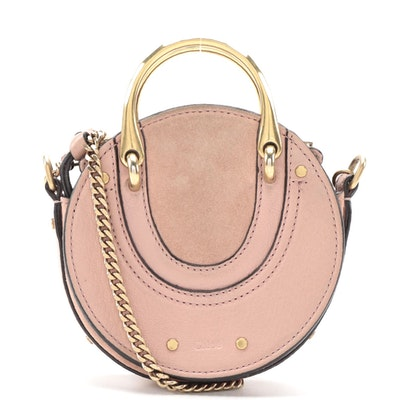 Chloé Mini Pixie Crossbody Bag in Ideal Blush Suede/Leather