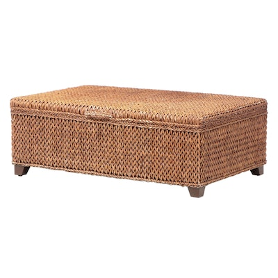 Woven Seagrass Lift-Lid Coffee Table