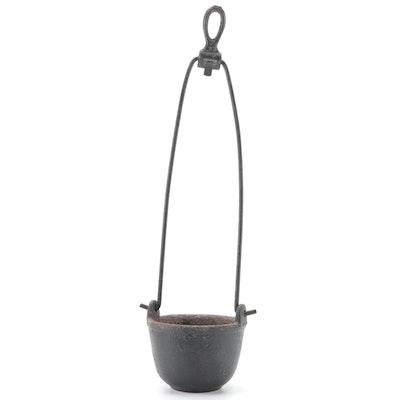 Cast Iron Swing-Handled Blacksmith's Cup