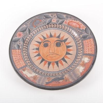 Artisan Crafted Mexican Centerpiece Plate