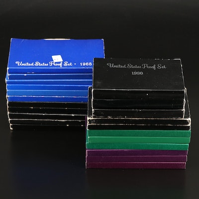 Twenty-Two U.S. Mint Proof Sets, 1968–1997