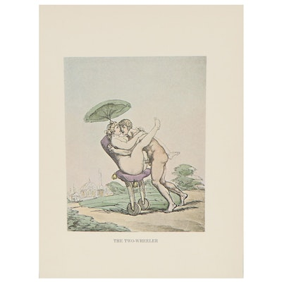 Offset Lithograph after Thomas Rowlandson, Late 20th Century