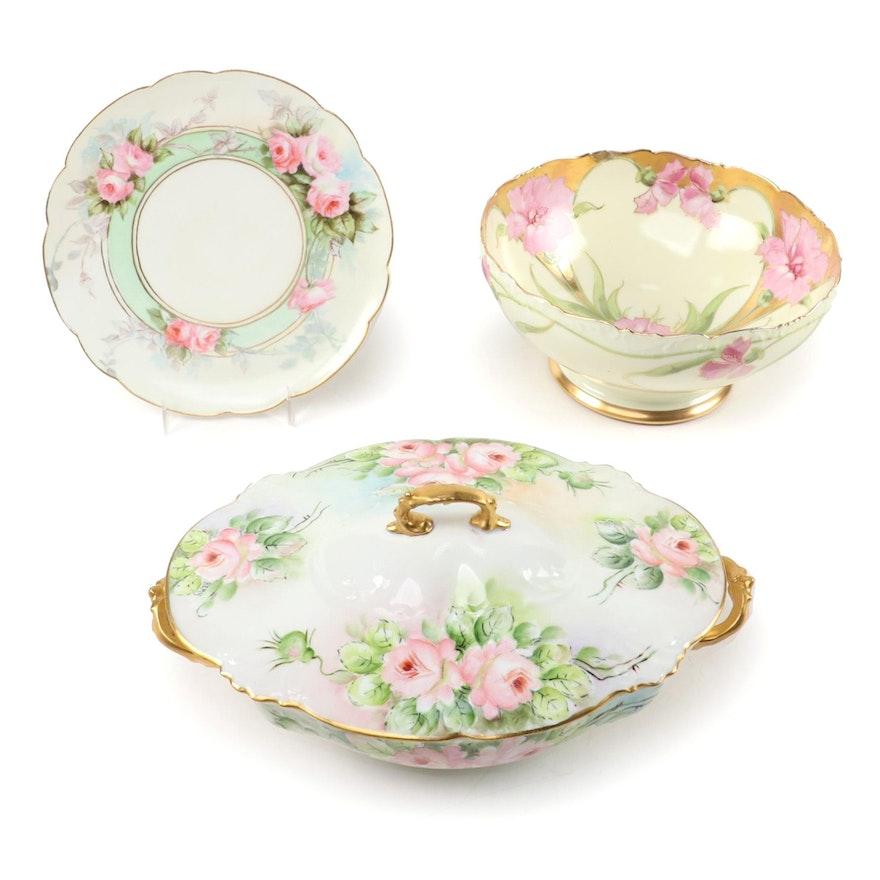 Tressemanes & Vogt Limoges and Other Porcelain Serveware