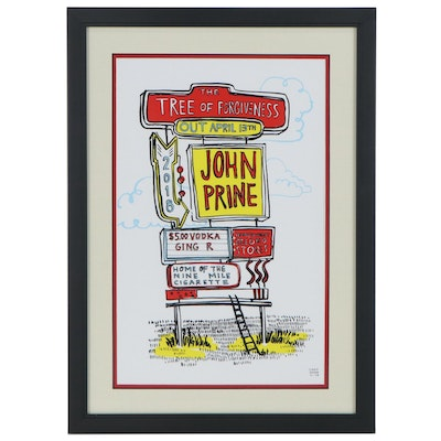 "Promotional Giclée Poster for John Prine ""The Tree of Forgiveness"" Album, 2018"