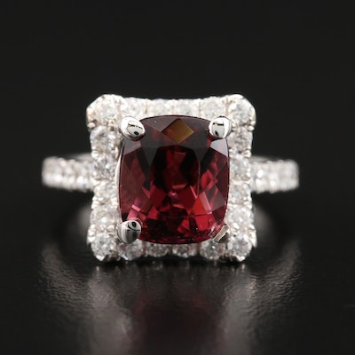 HANA 18K 4.29 CT Tourmaline and Diamond Ring