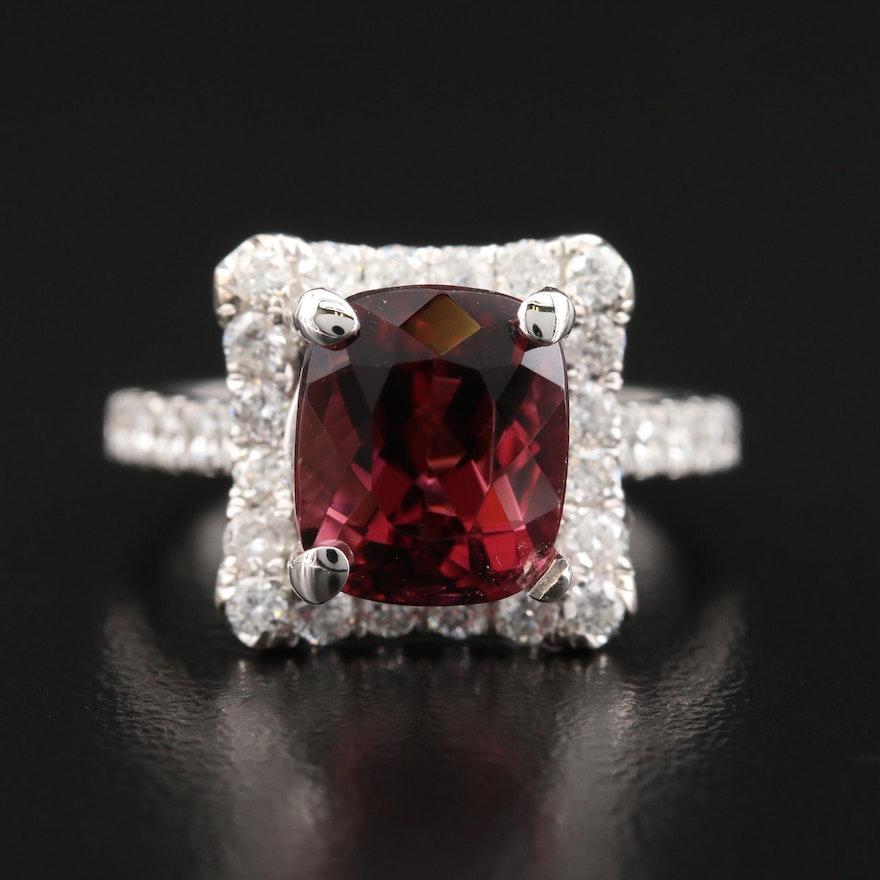 HANA 18K 4.29 CT Tourmaline and Diamond Ring
