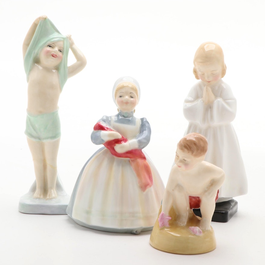 """Royal Doulton """"Bedtime,"""" """"The Rag Doll"""" and More Bone China Figurines"""