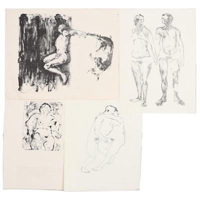 "John Tuska Stone Lithographs Including ""My Taurus,"" circa 1970"