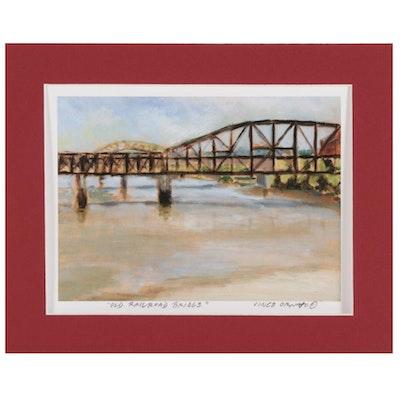 "Vince Ornato Giclée ""Old Railroad Bridge"""