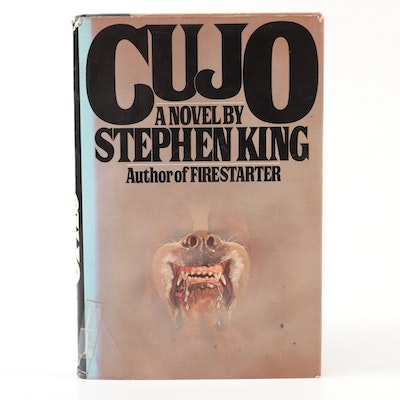 "Early Trade Edition ""Cujo"" by Stephen King, 1981"