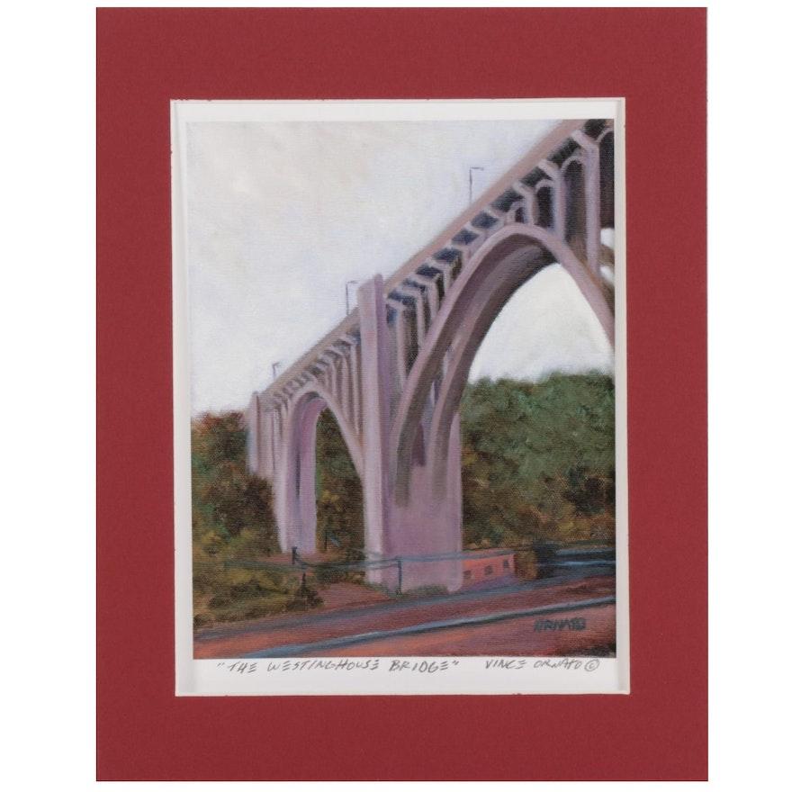 """Vince Ornato Giclée """"The Westinghouse Bridge"""""""