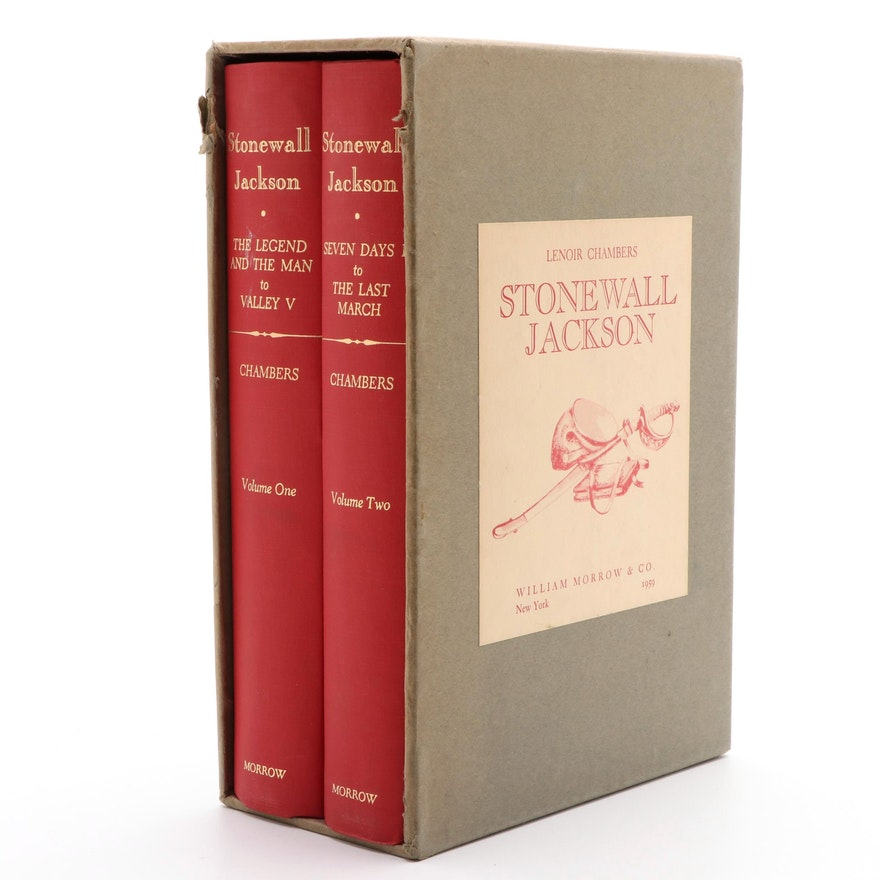 """Second Printing """"Stonewall Jackson"""" Two-Volume Set by Lenoir Chambers, 1959"""