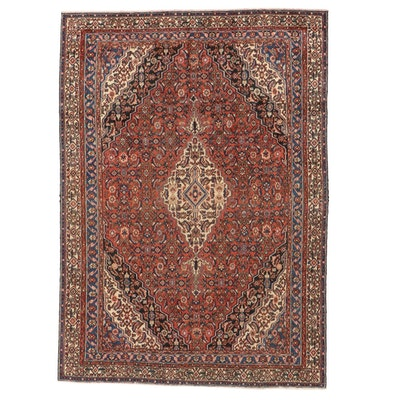 7'7 x 10'9 Hand-Knotted Persian Mahal Wool Area Rug