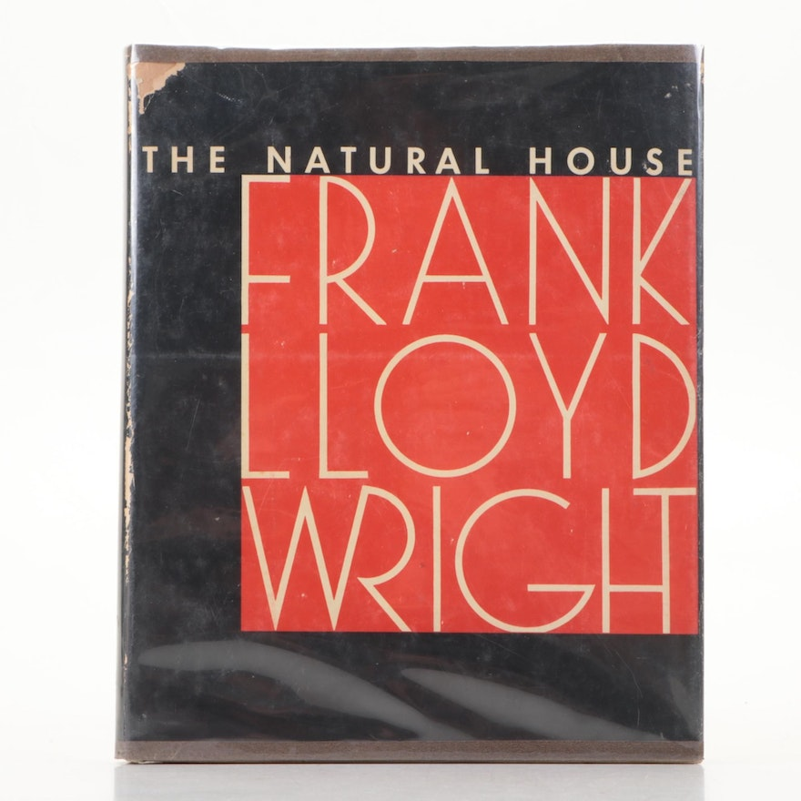 """First Edition """"The Natural House"""" by Frank Lloyd Wright, 1954"""