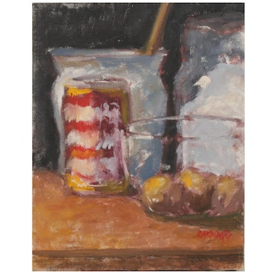 "Vince Ornato Oil Painting ""Still Life Study"""