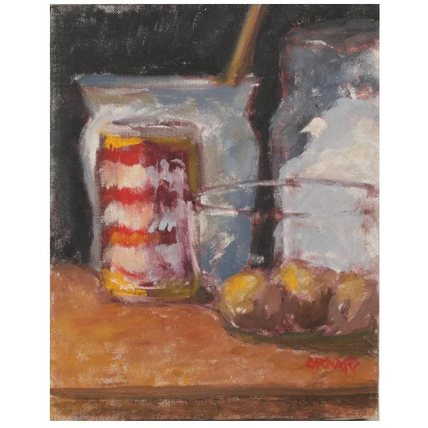 "Vince Ornato Oil Painting ""Still Life Study"""