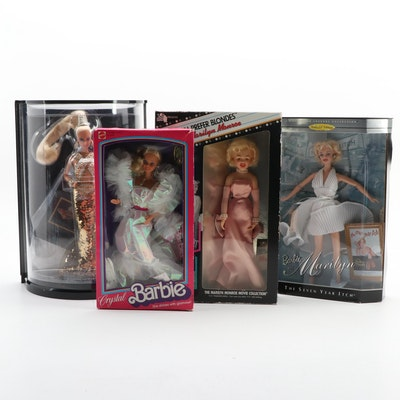 "Mattel Barbie Dolls Including ""Bob Mackie"", ""Crystal Barbie"" and More"