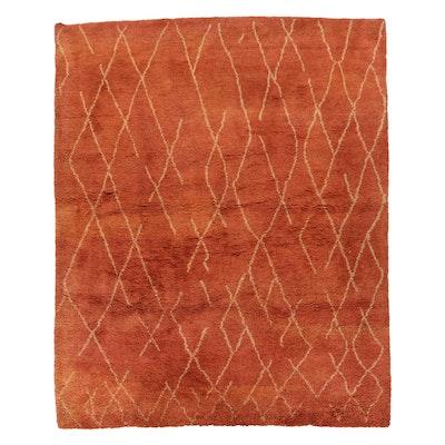 9'10 x 11'11 Handmade Moroccan Shag Wool Area Rug