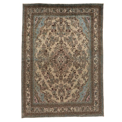8'8 x 11'11 Hand-Knotted Persian Mehriban Hamadan Room Sized Rug