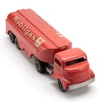 Smitty Toys Smith-Miller Pressed Steel Mobil Gas Cab and Trailer Tanker, 1949