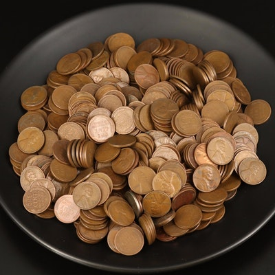 Approximately 500 Lincoln Wheat Cents