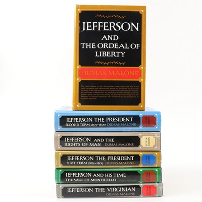 """Jefferson and His Time"" Six-Volume Set by Dumas Malone, 1948–1981"