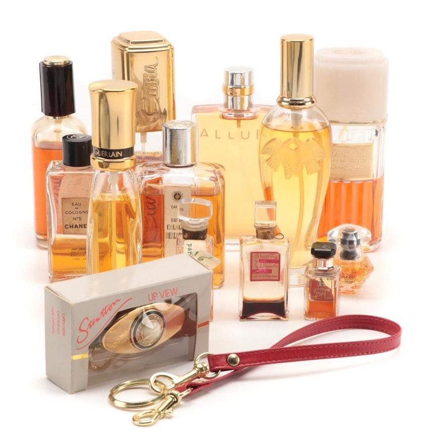 Chanel, Dior, Nina Ricci, Ciara, Stratton and Other Perfumes, Compact and Strap
