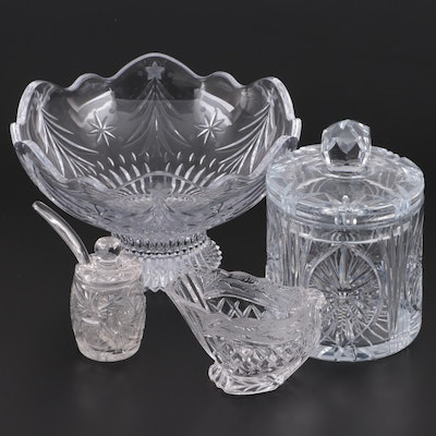 "Mikasa ""Christmas Tree"" Bowl with Other Crystal Tableware"