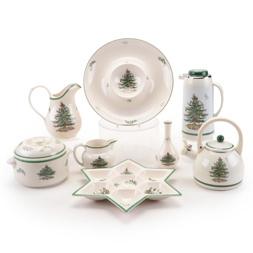 "Spode ""Christmas Tree"" Serveware, Late 20th Century"