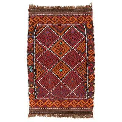 6'1 x 10'2 Handwoven Afghan Kilim Area Rug