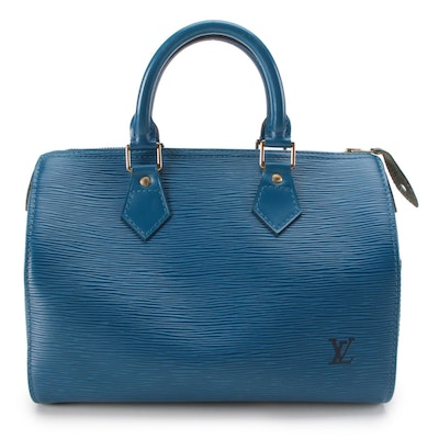 Louis Vuitton Speedy 25 in Toledo Blue Epi Leather