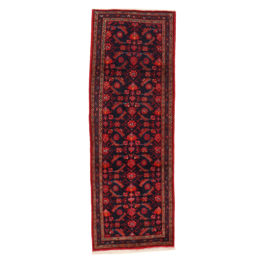 3'6 x 10'2 Hand-Knotted Persian Wool Long Rug