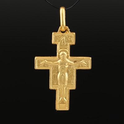Italian 18K Crucifix Pendant