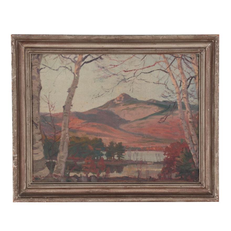 Robert Emmett Owen Oil Painting of Mountain View, Mid-20th Century